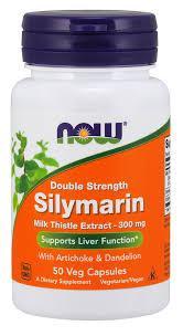 NOWАктивное долголетиеSilymarin 300 mg double strength100 veg caps