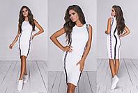 Жіноча сукня з італійського трикотажу (5 кольорів) - Білий ТК/-54037, фото 1