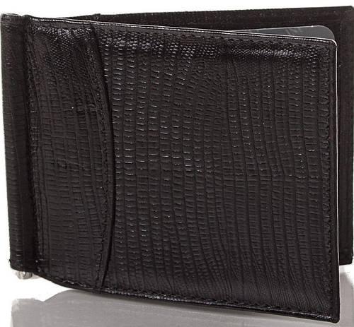 Надежный кожаный мужской зажим для купюр CANPELLINI (КАНПЕЛЛИНИ) SHI070-8 черный