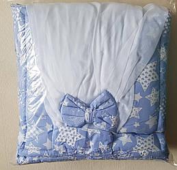 Комплект в детскую кроватку «Звезды» с балдахином в комплекте