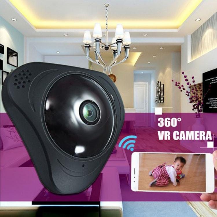 3D панорамная IP камера CAD 3630 видеонаблюдения 360 градусов WI-FI Full HD Камера видеонаблюдения