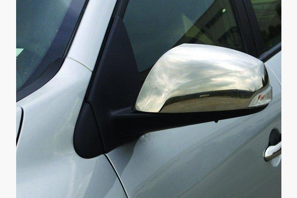 Накладки на зеркала (2 шт, нерж.) Renault Fluence 2009↗ гг.