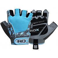 Перчатки для фитнеса женские RDX Blue L (20107)