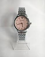 Женские наручные часы Emporio Armani (Эмпорио Армани), серебристо-розовый цвет ( код: IBW204SP )