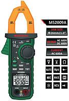 MS2009A Mastech Токоизмерительные клещи.DCV: 200мВ/2В/20В/200В.ACA 600А