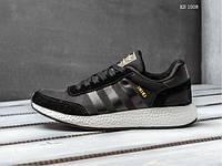 Мужские кроссовки Adidas Iniki Runner Boost (черно/белые)