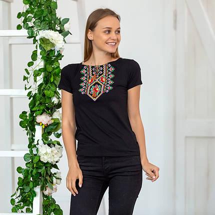 Жіноча вишита футболка Орнамент квітка, фото 2