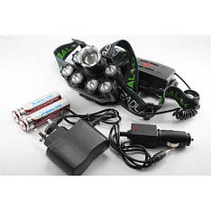 Фонарик налобный фонарь Bailong, налобный светодиодный фонарь, фонарик на лоб, налобный аккумуляторный фонарь