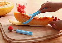 Ніж для кавуна, дині папайї з додатковою ложечкою пластик+метал (колір випадковий) SKU0000847, фото 1
