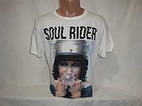 Мужская светлая футболка с оригинальным рисунком Hydronic