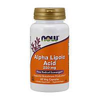 Альфа-липоевая кислота NOW Alpha Lipoic Acid 250 mg (60 veg caps)