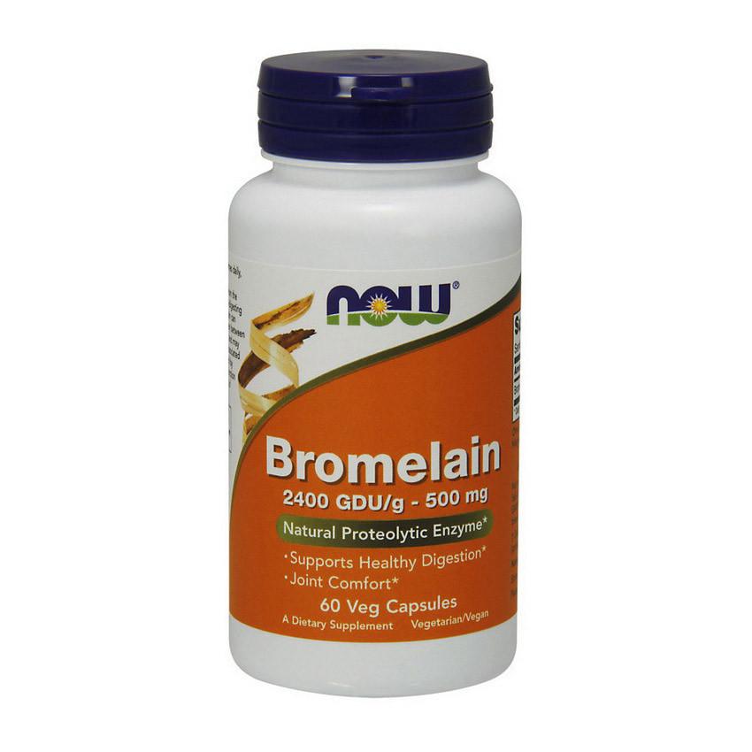 Бромелайн NOW Bromelain 500 mg (60 veg caps)