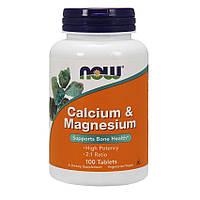 Кальцій NOW Calcium Magnesium (100 tabs)