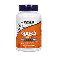 ГАМК гамма-аминомасляная кислота NOW GABA 500 mg (100 caps) габа