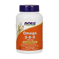 Рыбий жир NOW Omega 3-6-9 1000 mg (100 caps)
