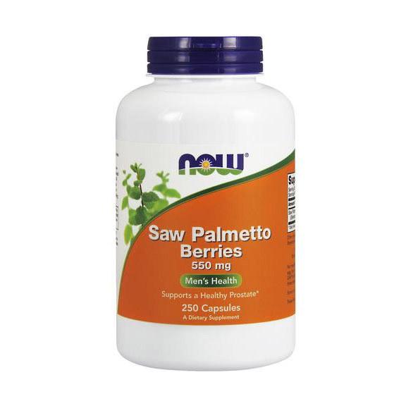 Чоловіче здоров'я NOW Saw Palmetto Berries 550 mg (250 caps)