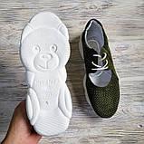 Открытые летние замшевые кроссовки с перфорацией Ted Dream (хаки), фото 2