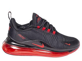 Мужские кроссовки Nike Air Max 270 'Black/Red' (Premium-class) черные
