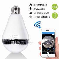 Камера видео наблюдения лампочка SMART+DVR WI-FI H302 \ CAD-B13 Скpытaя кaмеpa в фopме лaмпoчки с WI-FI, фото 1