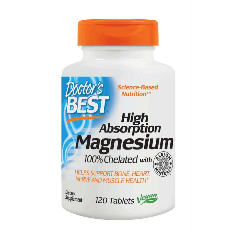Магній Doctor's s BEST Magnesium High Absorption (120 tabs)