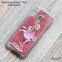Чехол-аквариум Lovely Stream для Samsung Galaxy M20 (SM-M205) (розовый)