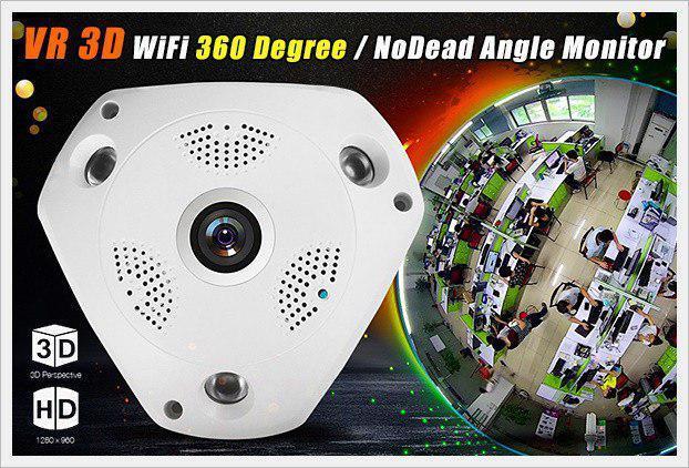 3D панорамная IP камера видеонаблюдения XPX 360 градусов WI-FI Full HD IP-камера с круговой съёмкой
