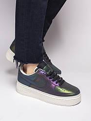 Женские кроссовки Nike Air Force 1 Low Reflective (Premium-class) черные