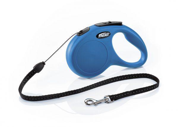 Рулетка для собак Flexi New Classic XS 3м/8кг трос, синий