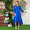 Жіноча лляна сукня вишиванка  блакитна Брітні, фото 2