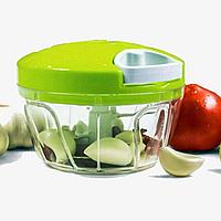 Универсальный измельчитель овощей Speedy Chopper чоппер зелёный, фото 1