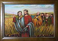 Ікона Ісуса з бурштину