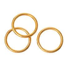 Кольцо закрытое круглое 15 мм золото для рукоделия