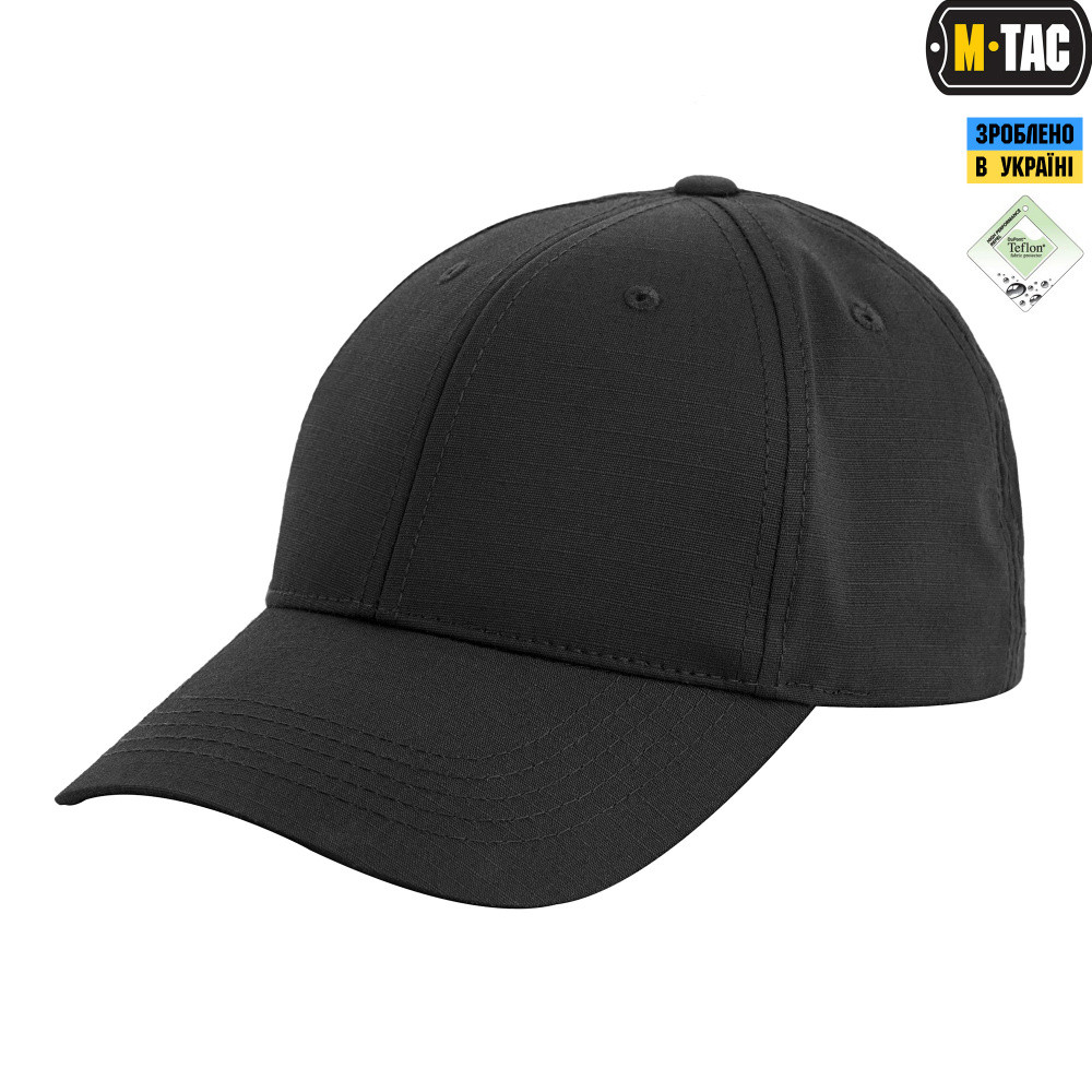 Бейсболка M-Tac Elite Flex Ріп-Стоп Black Size S/M