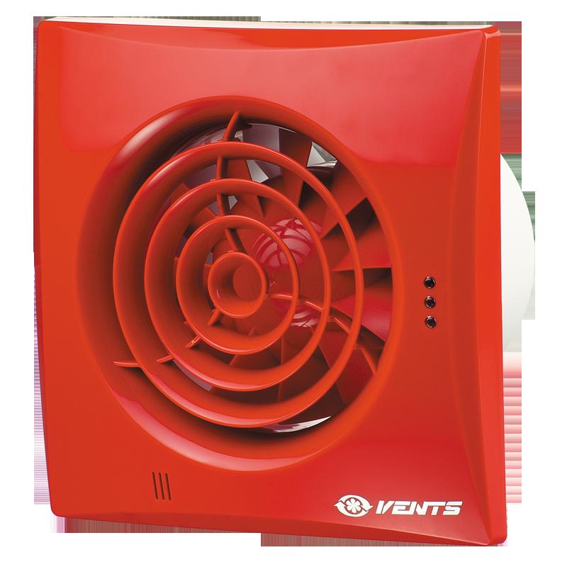 Купить Вентиляторы вытяжные, Вентс Квайт 100 Красный Сапфир малошумный