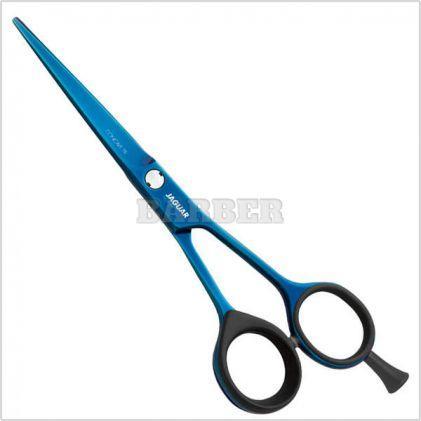 """Ножницы для стрижки прямые Jaguar Silver Line Concave Titan Blau. Длина 5,00"""""""