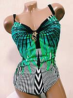 Купальник женский сдельный танкини сетка  Sisianna.9602 зеленый, фото 1