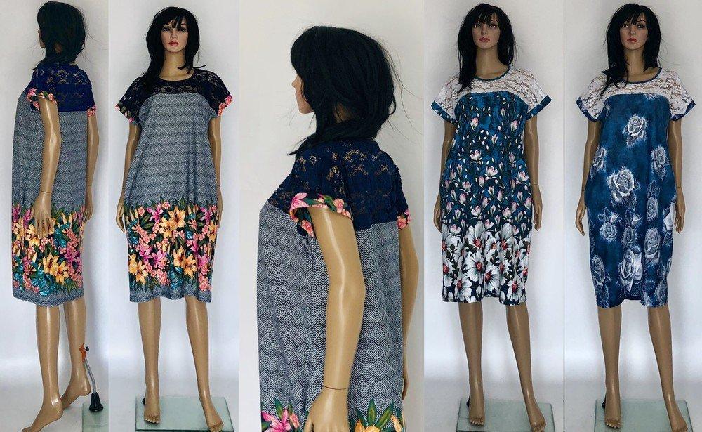 Платье женское батальное с гипюром