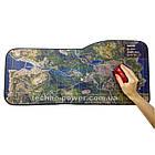 """Игровая поверхность с принтом """"Карта-спутник"""". Большой геймерский ковер 73*33 см для мышки, фото 2"""
