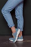 Открытые летние замшевые  кроссовки с перфорацией Ted Dream (голубые), фото 7