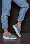 Открытые летние замшевые  кроссовки с перфорацией Ted Dream (голубые), фото 5