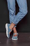 Открытые летние замшевые  кроссовки с перфорацией Ted Dream (голубые), фото 6