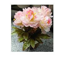 Декор T15-15 (75шт) цветы, 18см, в горшке, 3 цвета, в кор-ке, 10,5-22-10,5см