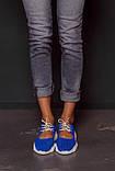 Открытые летние замшевые  кроссовки с перфорацией Ted Dream (электрик), фото 2