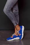 Открытые летние замшевые  кроссовки с перфорацией Ted Dream (электрик), фото 4