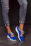 Открытые летние замшевые  кроссовки с перфорацией Ted Dream (электрик), фото 5
