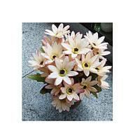 Декор T15-25 (48шт) цветы, 23см, в горшке, 3 цвета, в кор-ке, 16,5-23-16,5см
