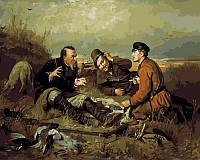 Картина раскраска по цифрам Охотники на привале худ Перов Василий (VP413) 40 х 50 см