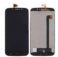 Дисплей для Bravis A553 Discovery Dual Sim/S-TELL M555/UMI Rome X с сенсором, черный