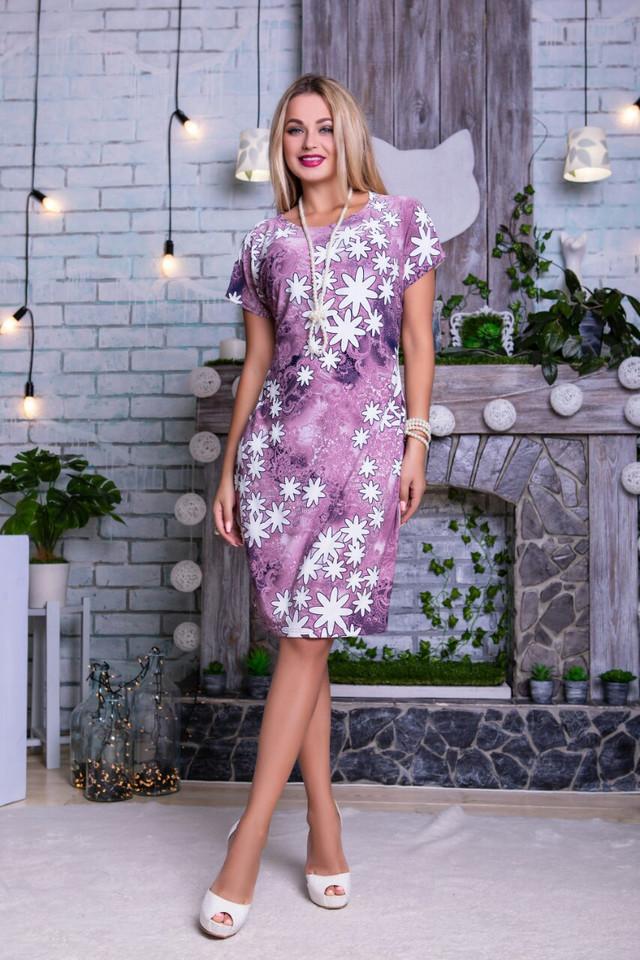 Фото Летних платьев больших размеров Лейла-5