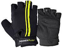 Велоперчатки PowerPlay 5031G Black-Yellow L